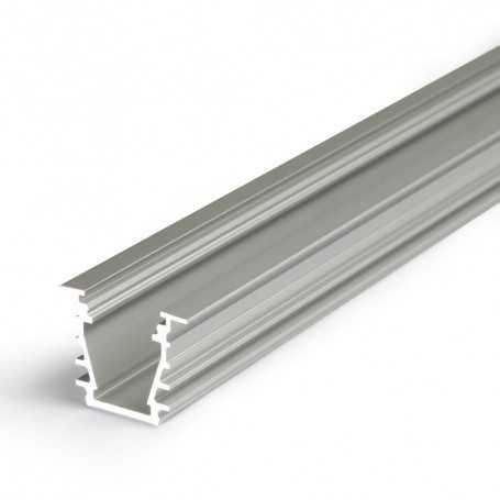 Profilé alu DEEP gris ENCASTRABLE 1m pour ruban LED 10mm