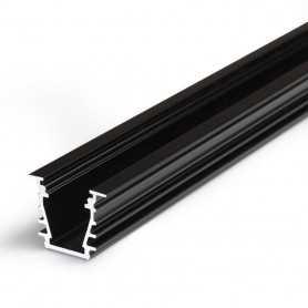 Profilé alu DEEP noir ENCASTRABLE 1m pour ruban LED 10mm