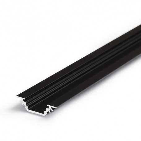 Profilé alu TRIO noir ANGLE 1m pour ruban LED 10mm