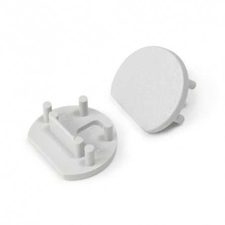 Bouchons gris pour profilé LED alu PEN XL