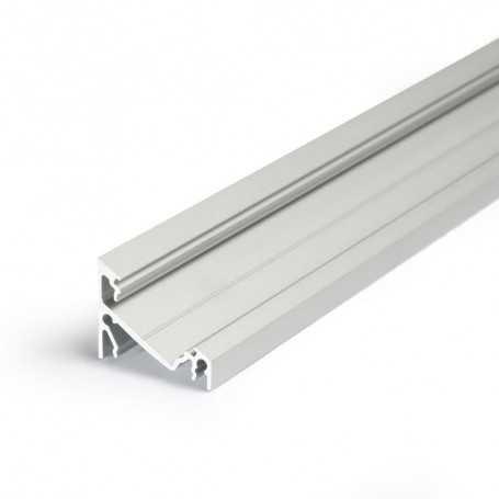 Profilé alu CORNER XL gris ANGLE 1m pour ruban LED 14mm