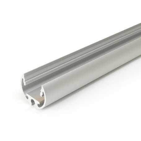 Profilé alu PEN XL gris TUBE de 1m pour ruban LED 12mm
