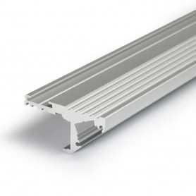 Profilé alu STEP gris ESCALIER de 1m pour ruban LED 10mm