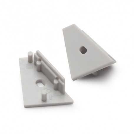 Bouchons gris pour profilé LED alu CORNER XL