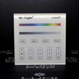 Panneau tactile LED RGB/RGBW 4 zones à piles gamme LumiConnect