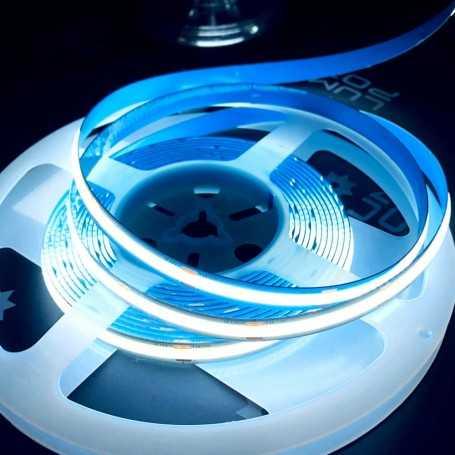 Ruban LED COB puissant 12V blanc froid sans points 5m. Gamme PREMIUM