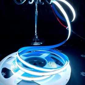 Ruban LED COB puissant 12V blanc froid sans points 2m50m. Gamme PREMIUM