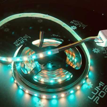 Ruban LED RGB+CCT 12V multicolore et blanc variable 2m50. Gamme PREMIUM
