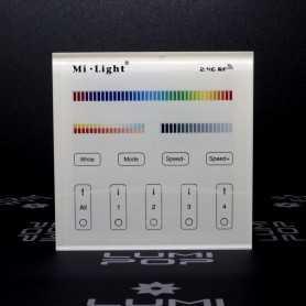 Panneau tactile LED RGBW/RGB+CCT 4 zones à piles gamme LumiConnect