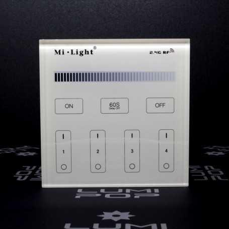 Panneau tactile variateur/dimmer 4 zones à piles gamme LumiConnect