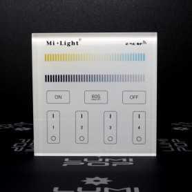 Panneau tactile LED CCT 4 zones à piles gamme LumiConnect