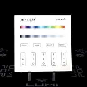 Panneau tactile RGB/RGBW 4 zones 220V gamme LumiConnect