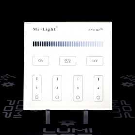 Panneau tactile LED Variateur 4 zones 220V gamme LumiConnect