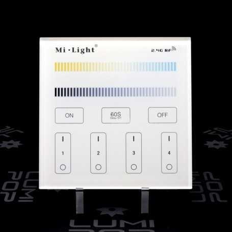 Panneau tactile CCT 4 zones 220V gamme LumiConnect