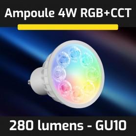 Ampoule LED connectée RGB+CCT GU10 4W gamme LumiConnect