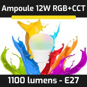 Ampoule LED connectée RGB+CCT E27 12W gamme LumiConnect
