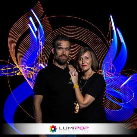Shooting Photo Light Painting en couple