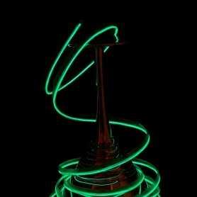 Fil lumineux collerette vert 2m allumé