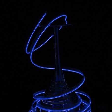 Fil lumineux collerette bleu 2m allumé