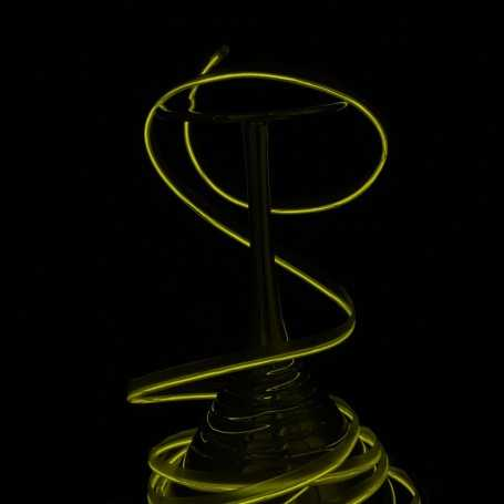 Fil lumineux collerette jaune 5m allumé