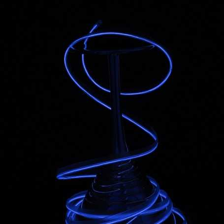 Fil lumineux collerette bleu 5m allumé
