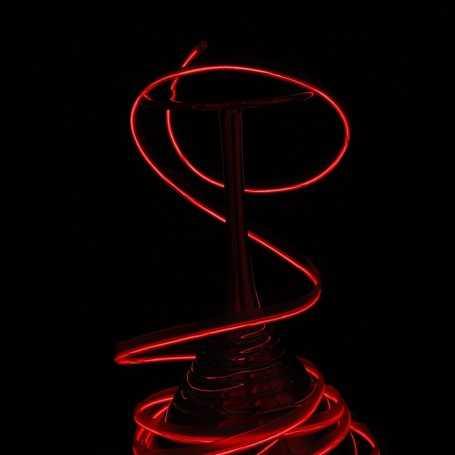 Fil lumineux collerette rouge 5m allumé