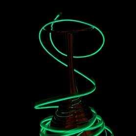 Fil lumineux collerette vert 5m allumé