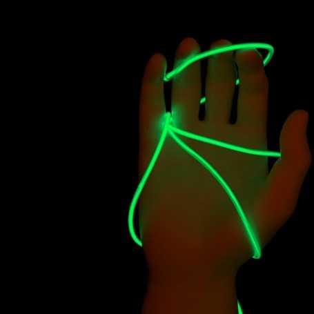 Fil lumineux vert 5m allumé