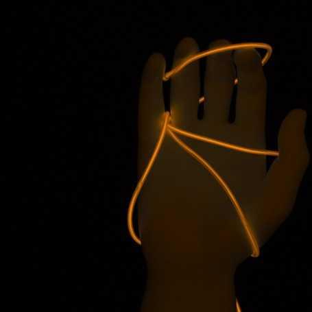 Fil lumineux orange 5m allumé