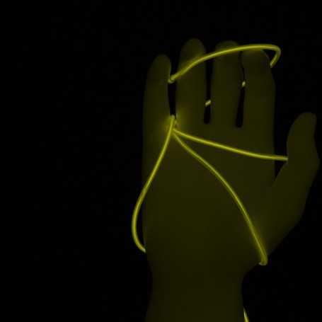 Fil lumineux jaune 5m allumé