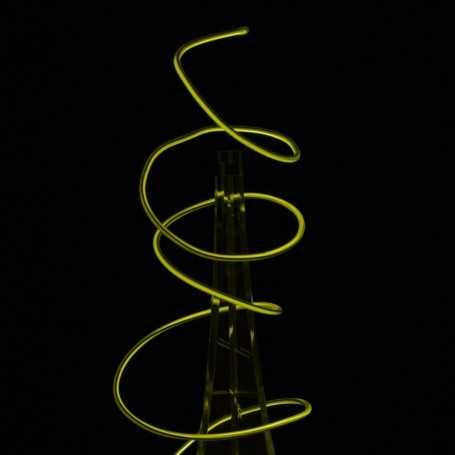 Fil lumineux flexiforme 3D jaune 5m allumé