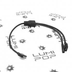 Connecteur d'alimentation double pour ruban LED RGB