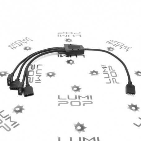 Connecteur d'alimentation quadruple pour ruban LED RGB
