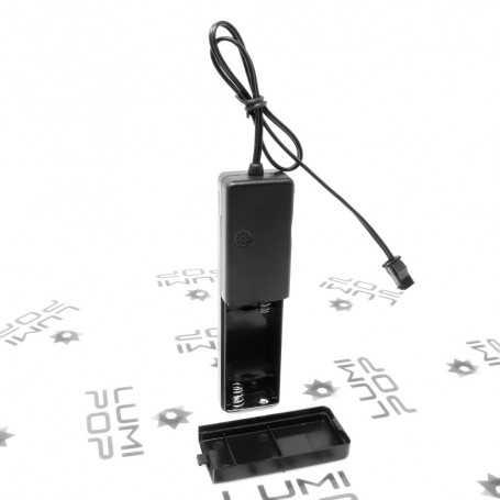 Alimentation à piles avec capteur de son jusqu'à 5m de fil lumineux