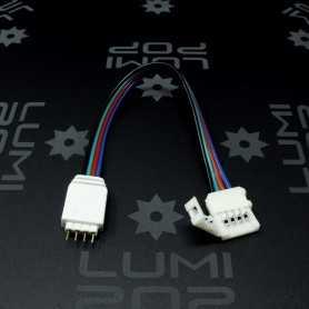 Raccord rapide souple Ruban LED RGB vers Connecteur RGB mâle