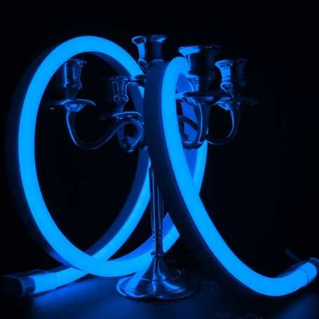 Néon LED BULBE bleu étanche IP67 - 24V - 50cm. Qualité premium