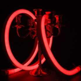 Néon LED BULBE rouge étanche IP67 - 24V - 50cm. Qualité premium