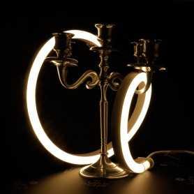 Néon LED BULBE blanc chaud étanche IP67 - 24V - 50cm. Qualité premium