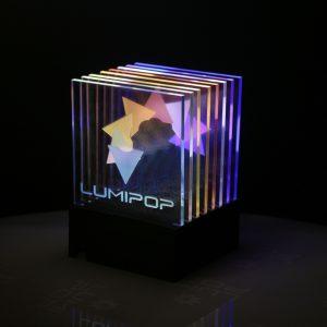 Lampe déco LumiPop anamorphose