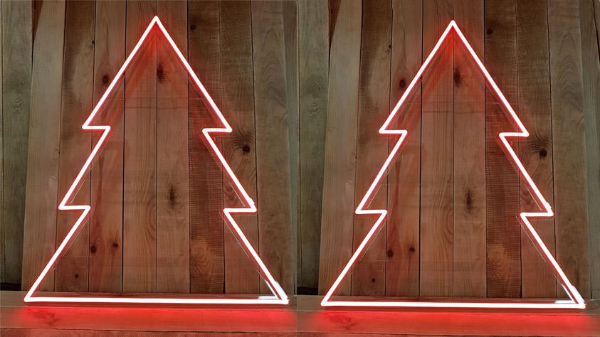 Sapins de Noël en néon LED rouge