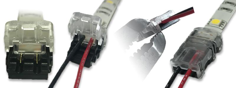 Bande LED EZ cliquez sur bande LED étanche au connecteur de fil