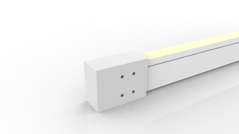 Capsule de terminaison moulée IP68 pour néon LED SLIM
