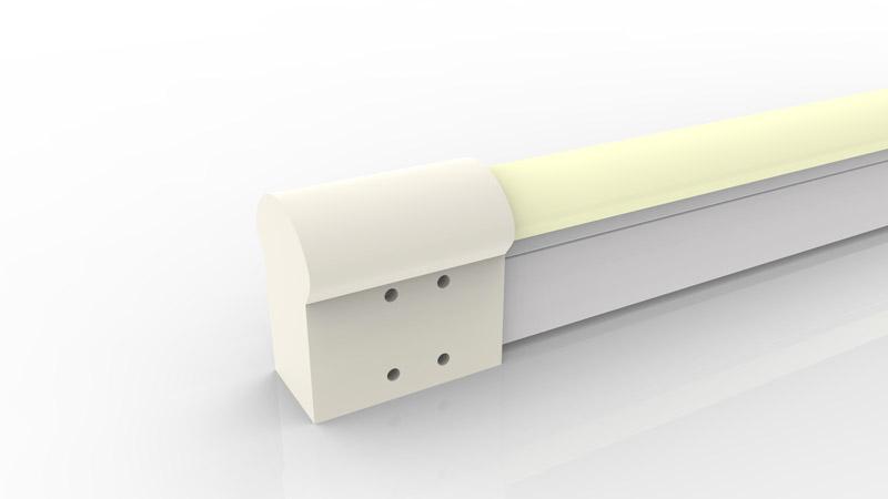 Capsule de terminaison moulée IP68 pour néon LED BULBE et DOME
