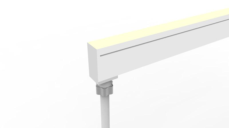 Connecteur arrière moulé IP67 pour néon LED SLIM