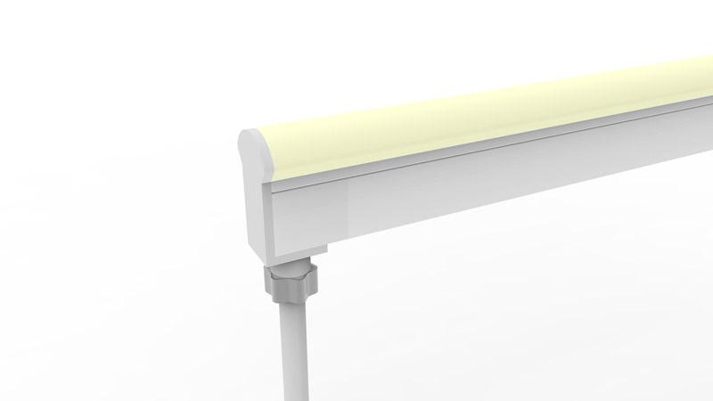 Connecteur arrière moulé IP67 pour néon LED BULBE et DOME RGB