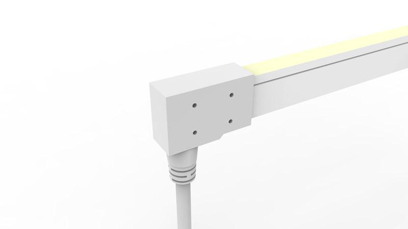 Connecteur arrière moulé IP68 pour néon LED SLIM