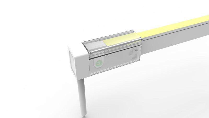 Connecteur arrière pour néon LED SLIM de la gamme PREMIUM LumiPop