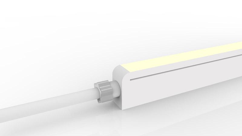Connecteur droit moulé IP67 pour néon LED SLIM
