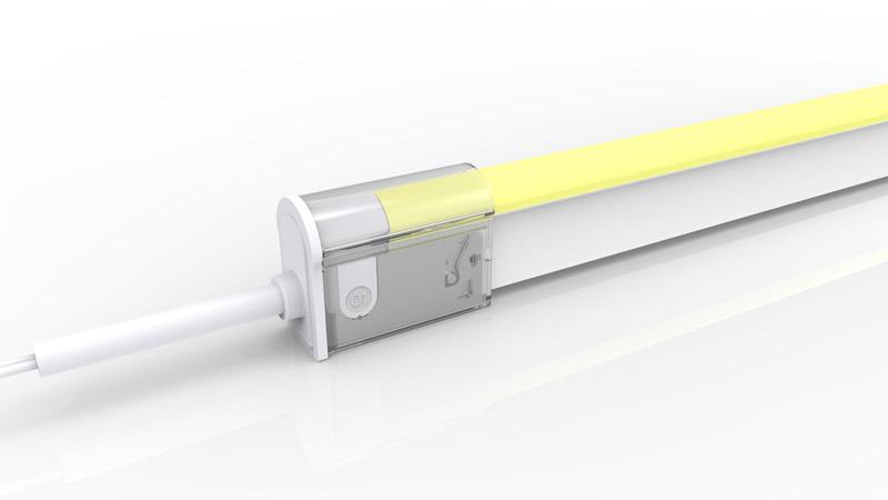 Connecteur droit pour néon LED BULBE de la gamme PREMIUM de LumiPop