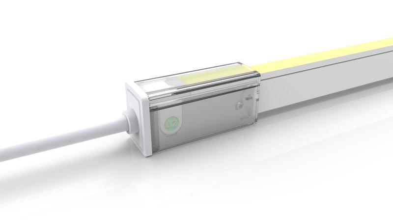 Connecteur droit pour néon LED SLIM de la gamme PREMIUM de LumiPop